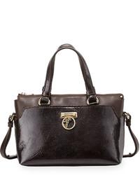 Versace Two Handle Crossbody Bag Dark Brown