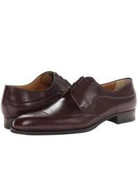 a. testoni Black Label Antiqued Calf Oxford Shoes Dark Brown
