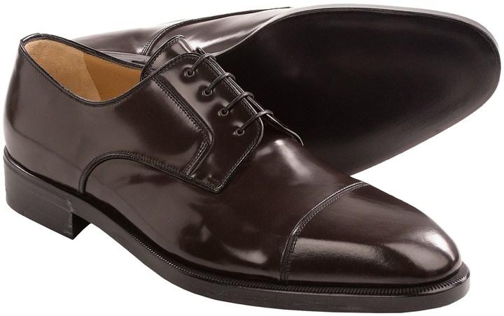 A.TESTONICap Toe Leather Derbys reDH968