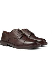 Brunello Cucinelli Cap Toe Full Grain Leather Derby Shoes