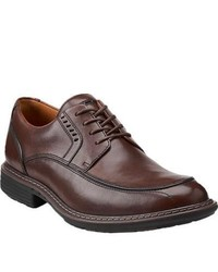 Clarks Unrage Brown Leather Lace Up Shoes