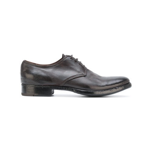 Premiata Distressed Sole Derby Shoes