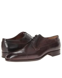 Fratelli Rossetti Cap Toe Oxford Lace Up Casual Shoes Dark Brown