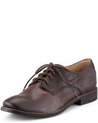 Frye Anna Leather Oxford Brown