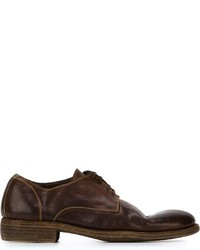 Guidi Stitch Detail Derby Shoes