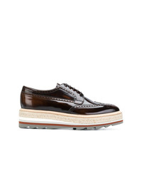 Prada Lace Up Derby Shoes
