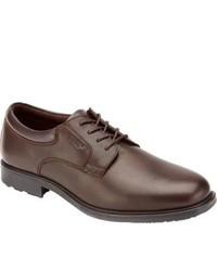 Rockport Essential Details Wp Plain Toe Dark Brown Full Grain Leather Lace Up Shoes