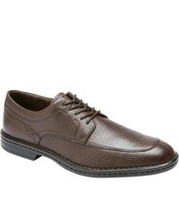 Rockport Rocsports Lite Business Moc Toe Dark Brown Tumbled Leather Lace Up Shoes