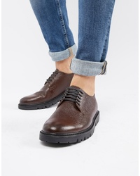 WALK LONDON Timmy Derby With Wedge Sole In Brown