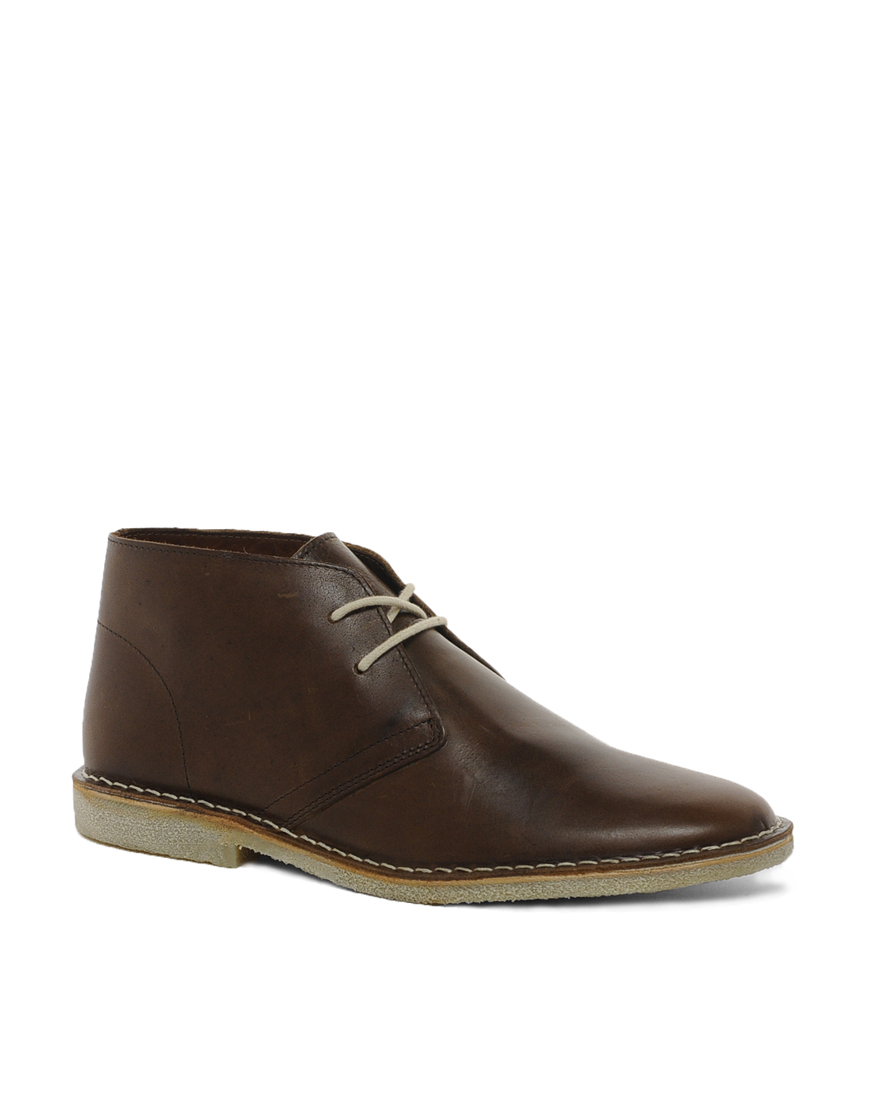 brown leather desert boots asos desert boots in