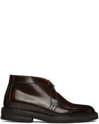 Brunello Cucinelli Brown Aged Calfskin Desert Boots