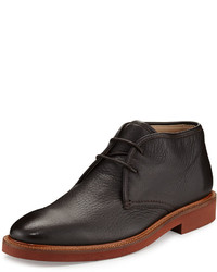 Ermenegildo Zegna Deerskin Leather Chukka Boot Brown