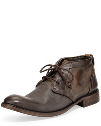 John Varvatos Freeman Raw Edge Chukka Boot Dark Brown