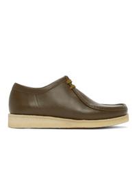 Padmore and Barnes Khaki Leather Original P204 Derbys