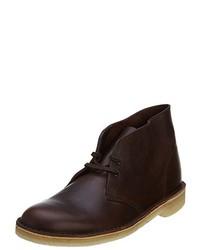 Dark Brown Leather Desert Boots