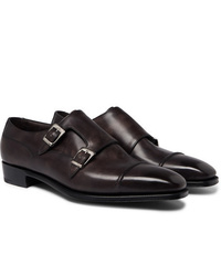 George Cleverley Caine Leather Monk Strap Shoes