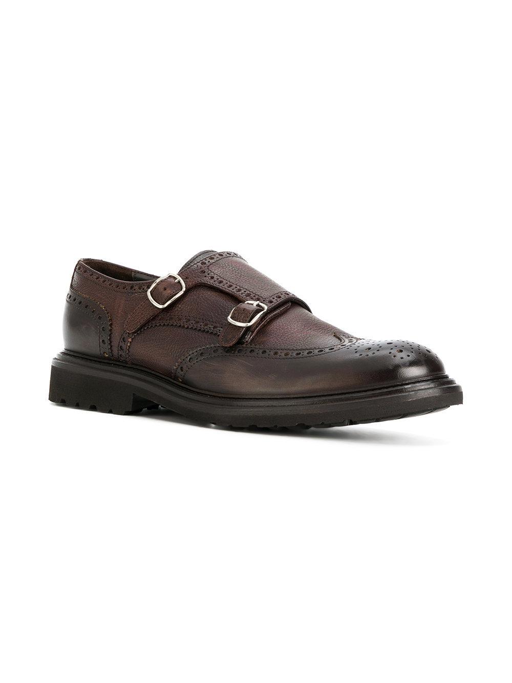 Dell'oglio Cross Strap Monk Shoes