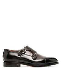 Santoni Double Buckle Oxford Shoes