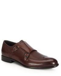 Hugo Boss Double Monk Leather Shoes