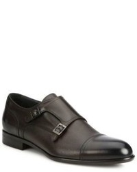 Hugo Boss Double Monk Strap Leather Shoes