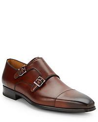 Double Monkstrap Leather Dress Shoes
