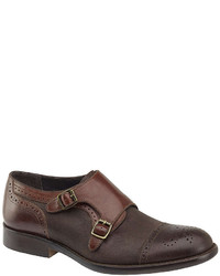 J M Est 1850 Decatur Double Monk Strap Cap Toe Loafers