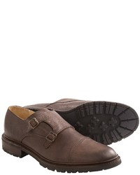 Frye James Double Monk Strap Shoes Leather