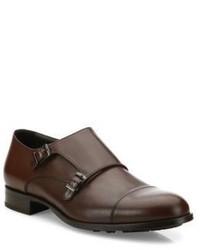 Hugo Boss Monutal Monk Strap Leather Shoes