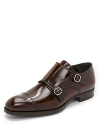 New york bailey high shine double monk strap shoes medium 582582