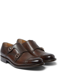 Okeeffe Algy Leather Monk Strap Shoes
