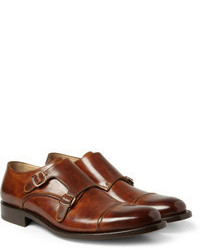 Okeeffe Manach Hand Polished Leather Monk Strap Shoes