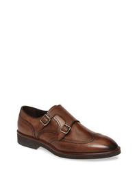 Johnston & Murphy Ridgeland Wingtip Double Monk Shoe