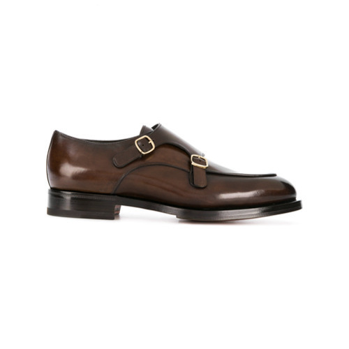 Santoni Side S Embellished Monk Shoes