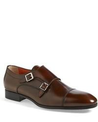Santoni Upton Double Monk Strap Shoe