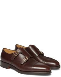 John Lobb William Leather Monk Strap Shoes