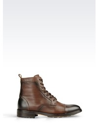 Armani Jeans Leather Ankle Boot