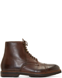 Brown leather wantage boots medium 343060