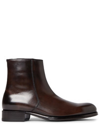 Tom Ford Edgar Burnished Leather Boots