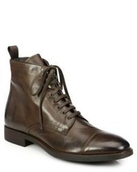 To Boot New York Stallworth Leather Cap Toe Boots