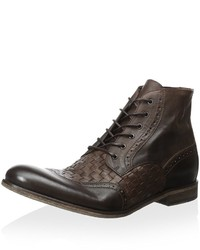 Robert Graham Perches Lace Up Woven Leather Boot
