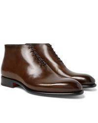 Santoni Whole Cut Leather Boots