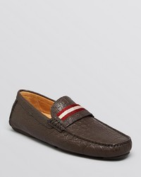 Bally Wabler Croc Embossed Driving Loafers