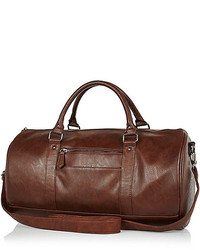 River Island Dark Brown Holdall