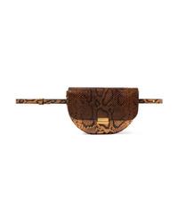 Wandler Anna Snake Effect Leather Belt Bag