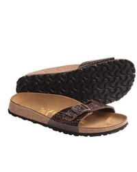 Birkenstock Papillio By Madrid Sandals Patent Leather Brown