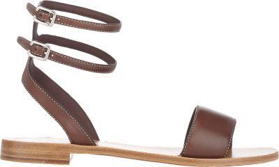 b6a5d7d2e ... Prada Double Ankle Strap Sandals Brown