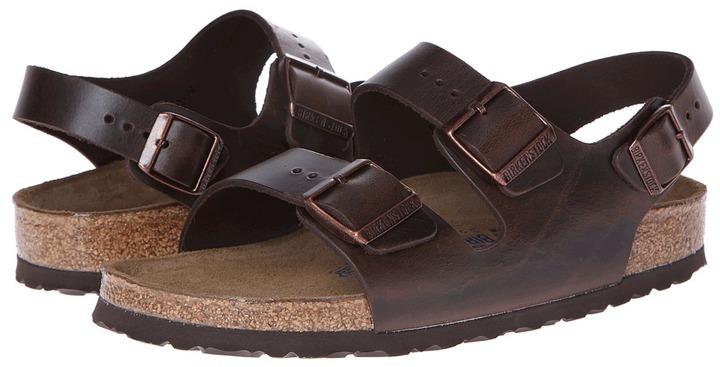 58de786e83c ... Birkenstock Milano Leather Soft Footbed Sandals ...