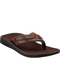 Clarks Dude Donny Black Full Grain Leather Thong Sandals