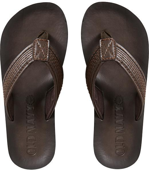 872eb61c9704 ... Old Navy Faux Leather Flip Flops ...