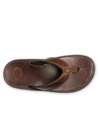 OluKai Ohana Leather Flip Flops